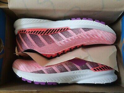 Brooks Ravenna 10 Womens Coral/Purple/Black UK Size 7