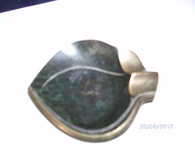 Aschenbecher aus Metall, Durchmesser 8 cm, Zigaretten-Auflage goldfarben