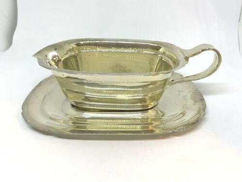 Sterling Silver Reed & Barton Mayflower Gravy Boat And Saucer Set