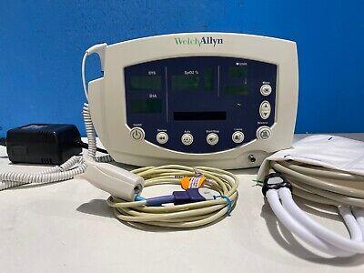 Welch Allyn 53nto Patient Monitor W Spo2 Probe Nibp Hose Cuff Temp Probe