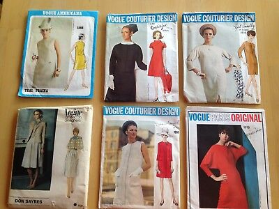Vintage Vogue Dress Sewing Pattern Cut, Lge Package, Choose Your Style