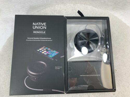 Native Union Monocle Black Diamond Personal Speaker and Speakerphone