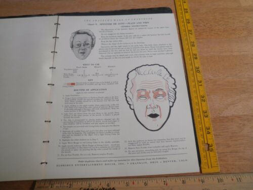 1940 Arthur Schwerin Actors Character make-up book horror age etc RARE Eldridge