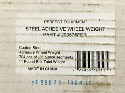 PERFECT EQUIPMENT Adhesive Backed 704 Pcs-.25oz Segments Coated Steel Wheel Weig