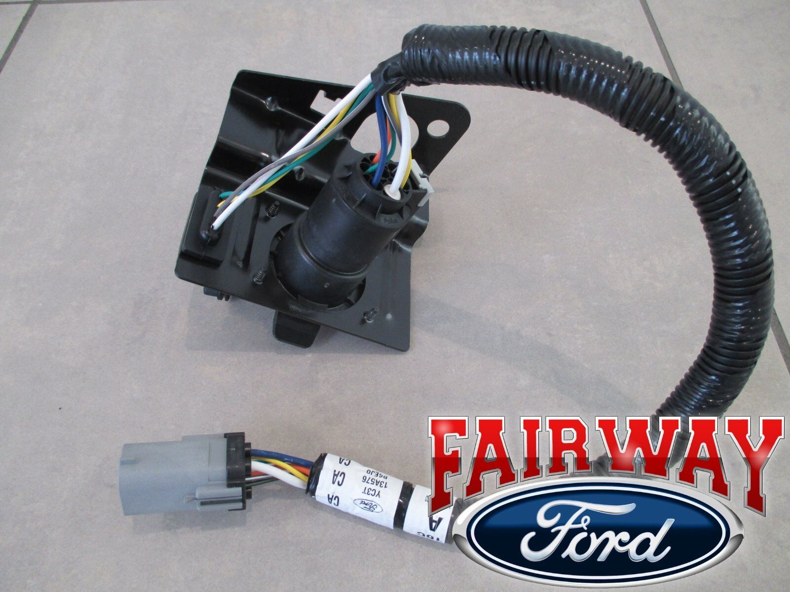 99 Thru 01 F250 F350 Super Duty Ford 4 7 Pin Trailer Tow Wiring 2014 Harley Davidson Harness 2 Of 6