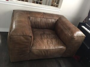 RH leather sofa