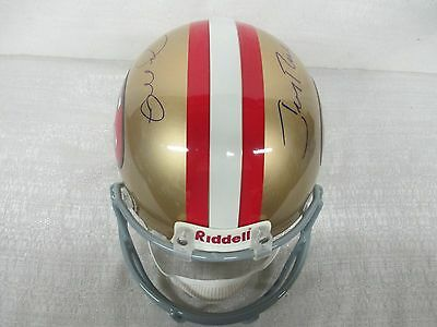 Joe Montana Jerry Rice 49ers Signed Riddell Full Size Pro Line Helmet Holograms