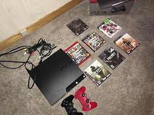PS3 slim (250GB) + GAMES (negotiable)