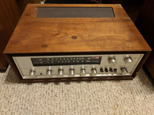 Vintage Pioneer SX-700T Stereo Solud State Receiver w/Wood Cabinet in Ct Works!