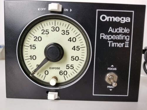 Omega Audible Repeating Timer II. Darkroom printing. Tested. Exc. condition