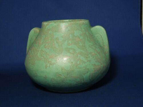 Vintage Art Pottery Vellum Glaze Green Vase Pot Planter