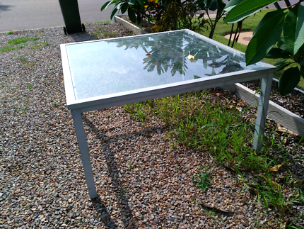 Glass outdoor table for sale $50