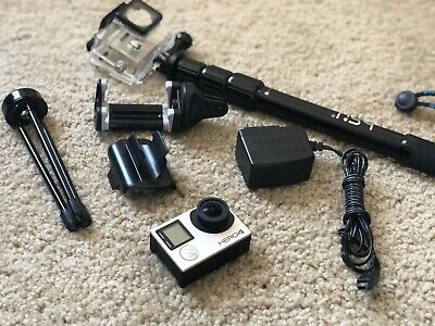 GoPro HERO4 Silver Action Camera w/ accessories + 64 GB Micro SD
