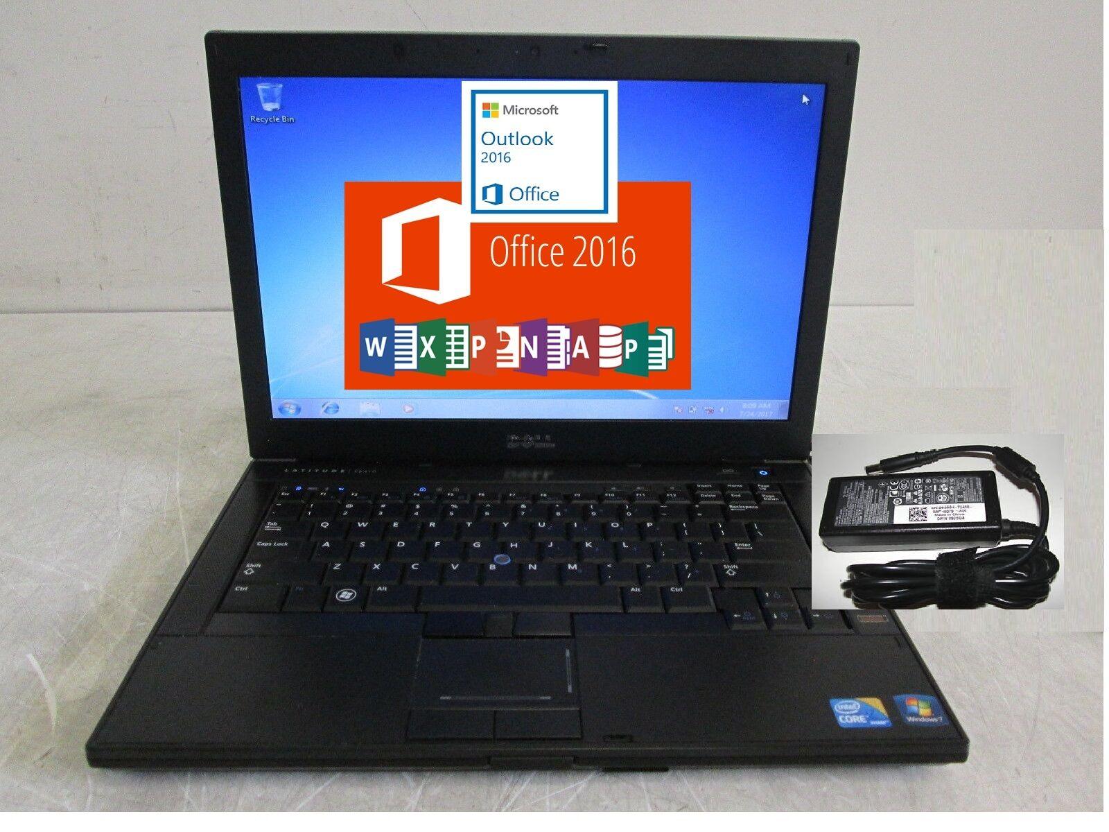 Dell Latitude E6410 Laptop. Intel Core i5 M520 2.67GHz  word 2016 suite, Win 7