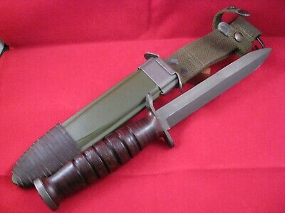 Excellent WWII US M3 Imperial Guard Mkt Trench Knife w/ M8A1 Scabbard A++