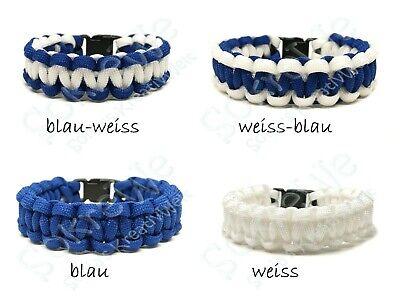 Survival ❤ Paracord Armband blau weiß ❤ Handmade ❤ einfarbig - zweifarbig ❤ Survival Armband Blau