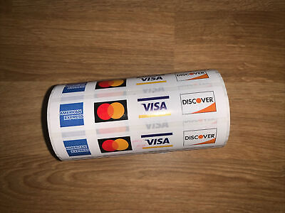 Roll Of Accepted Credit Card Stickers