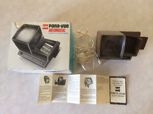 Pana-Vue Automatic Lighted 2 x 2 Slide Viewer Gaf