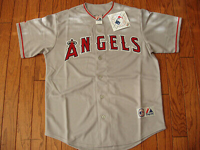 Los Angeles Angels Away Gray Jersey w/Tags  Size M