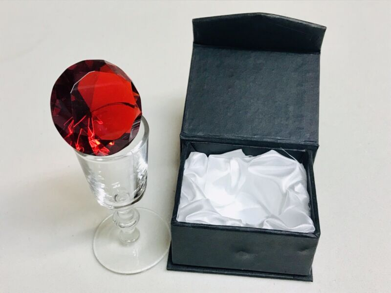"LARGE Fake Faux Red Glass RUBY Cancer BirthStone Arts Crafts Novelty Gift 1.5""D"