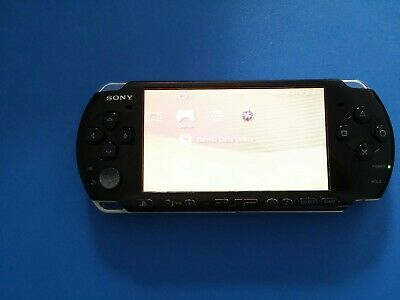 Sony PSP-3000 Playstation Portable Console - Piano Black, w/ 8 games lot