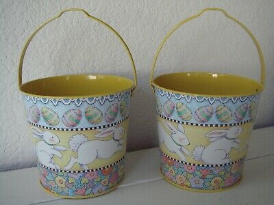 SET OF 2 MARY ENGELBREIT EASTER BUNNY PAILS - Easter Pails
