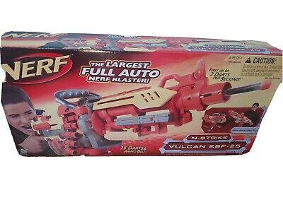 Rare 2008 Nerf N-Strike Vulcan EBF-25 Dart Blaster NEW In Open Box