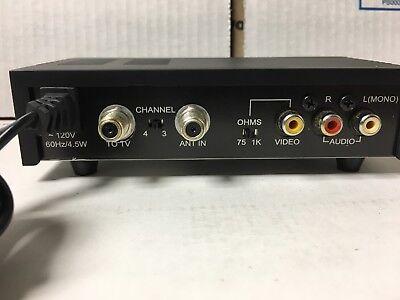 APEX Mini RF Modulator Audio Video RCA Output to F Type Coaxial Signal Converter Rf Modulator-audio