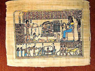 Ägypten ausdrucksstarkes Papyrus-Bild 43x32 cm -Leben u.Sterben im alten Ägypten