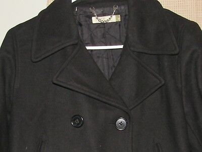 J CREW womens medium navy blue wool pea coat lined