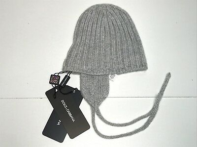 D&G New Baby Boys New CASHMERE EAR WARMER WINTER HAT Sz: 18 - 24m RTL: $180 Q430