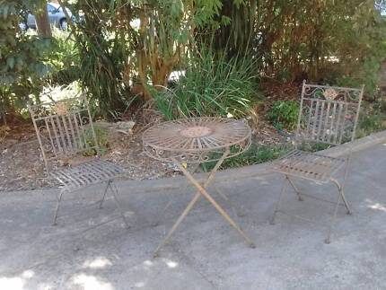 3 piece outdoor set - table and two folding chairs