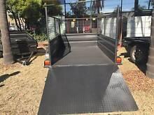 8X5 HI SIDE RAMP 600MM CAGE 1Y PRIV REGO 1Y WARRANTY $1990 Campbelltown Area Preview