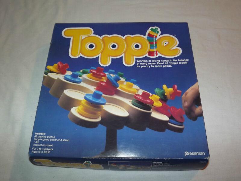 VINTAGE TOY  1985 PRESSMAN TOPPLE GAME