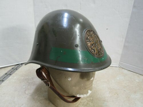 Dutch M34 Helmet WW2 W/ Insignia Nice Condition Original Netherlands Large