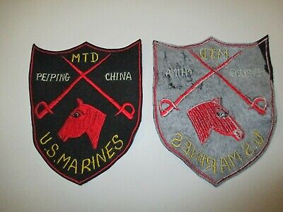 e3243 USMC 1930s Mounted Detachment Peiping China Worn On Horse Blanket  R20A