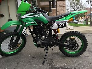 New 200cc dirt bike with led under glow lights