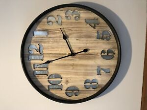 Wood and metal clock for sale