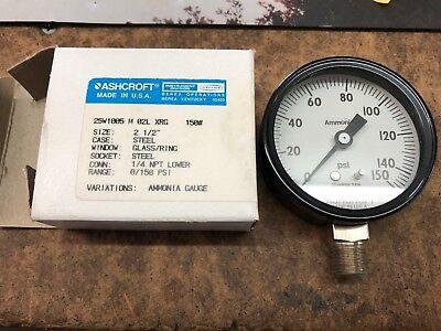 Ashcroft Pressure Gauge 0-150 Psi 2 12 Inch Ammonia Gauge Nh3
