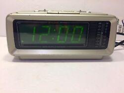 Vintage Lenoxx CR-776 Sound Digital Dual Alarm Clock Radio Grey Battery Backup