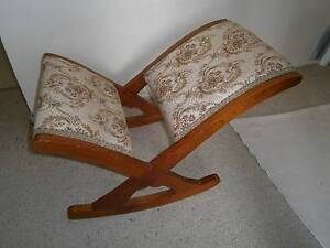 Antique Rocking Foot Stool / Gout Stool Coopers Plains Brisbane South West Preview
