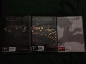 Game of Thrones DVDs season 2,3 & 4 Alice Springs Alice Springs Area Preview