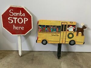 Santa stop here yard signs