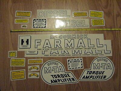 Farmall Super M-ta Diesel Decal Set Ih Mccormick Farmall - Free Shipping