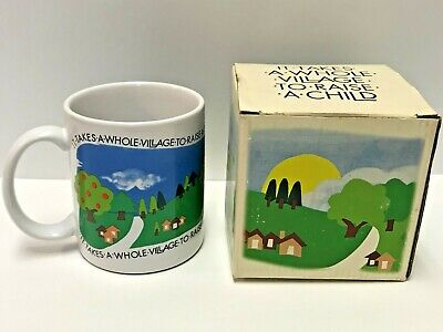 It Takes A Whole Village to Raise a Child Ceramic Coffee Cup 3 3/4