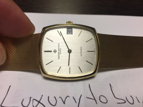 VACHERON CONSTANTIN VINTAGE IN 18K. YELLOW GOLD COMPLETE. 100% AUTHENTIC - watch picture 1