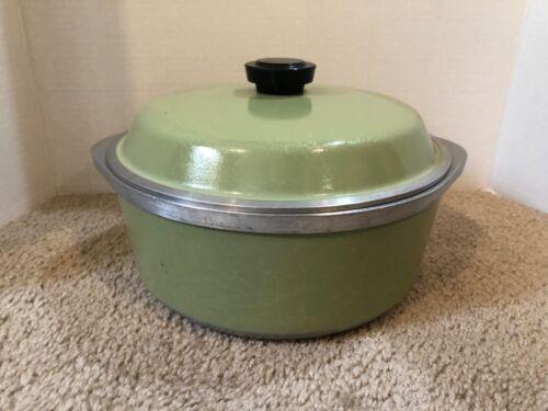 Club Aluminum 5 Qt Round Dutch Oven Pot Pan & Lid Avocado Green