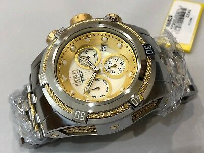 0822 Invicta Reserve 52mm Bolt Zeus Swiss Quartz Chronograph SS Bracelet Watch