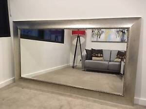 Silver framed antique style mirror. Rozelle Leichhardt Area Preview