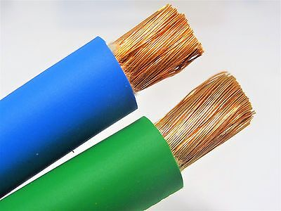 30 20 Welding Battery Cable 15 Green 15 Blue 600v Usa Epdm Heavy Duty Copper